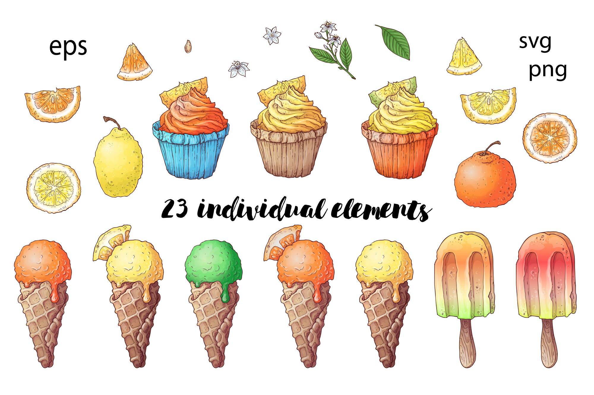 Citrus Sweets vector clip art example image 2