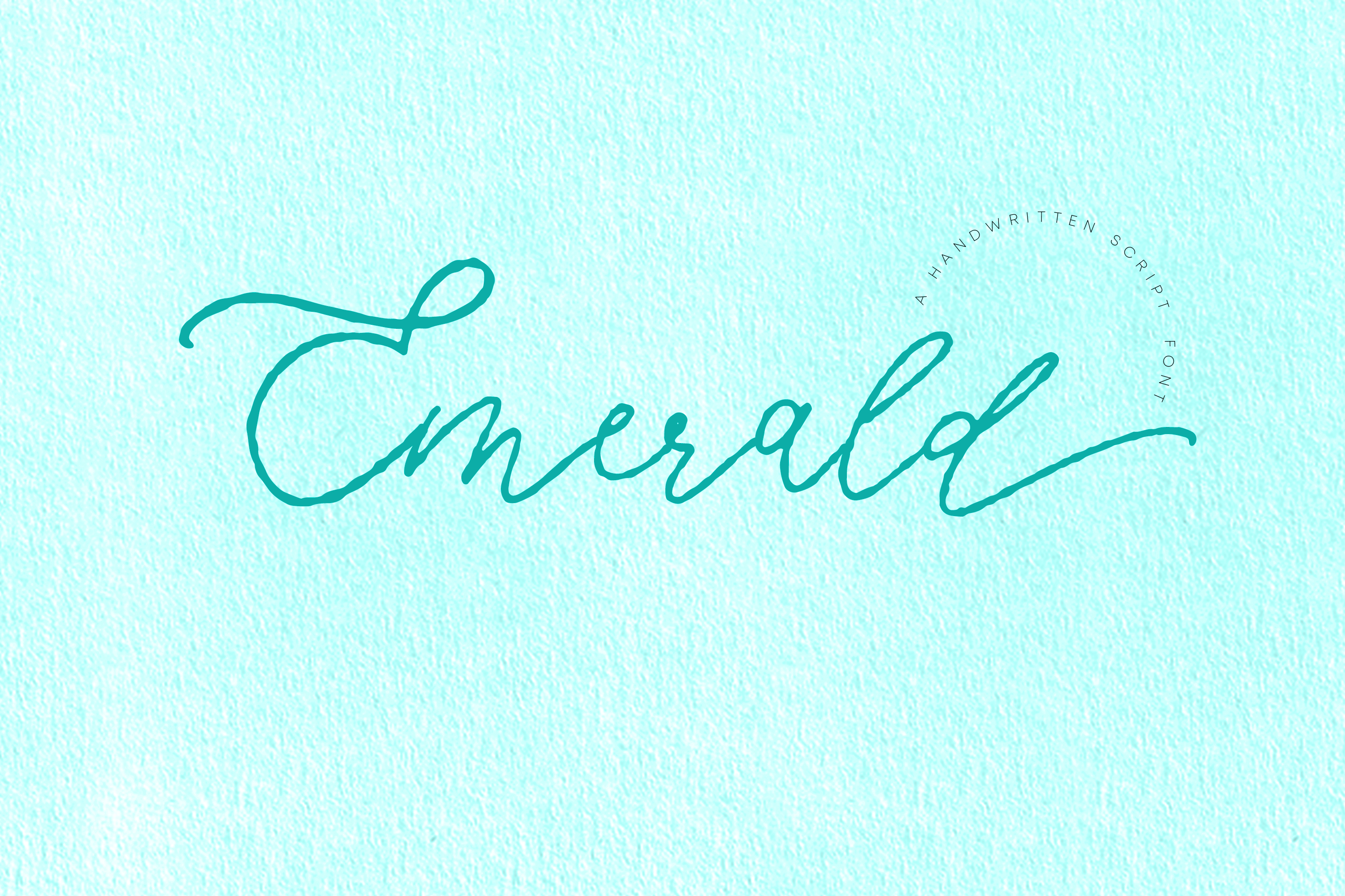 Emerald, imperfect modern calligraphy script example image 1