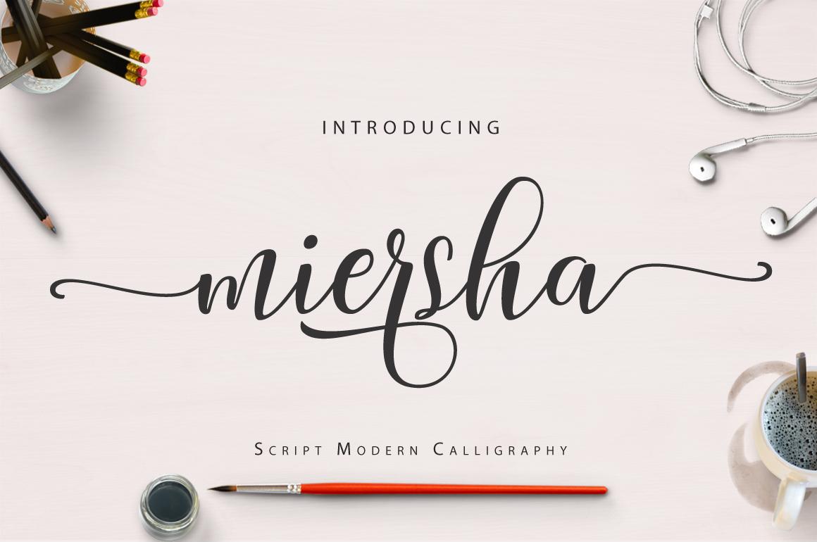 Miersha script example image 1