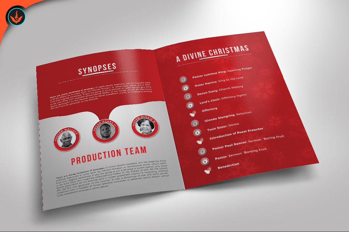 A Divine Christmas Program Photoshop Template example image 2