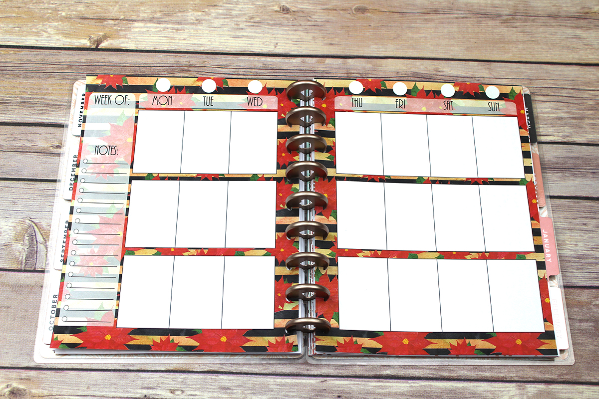 Happy Planner PRINTABLE, Weekly Insert Refill, Christmas, Poinsettia, Printable, Planner Printable, 7 x 9.25, Mambi Happy Planner example image 2