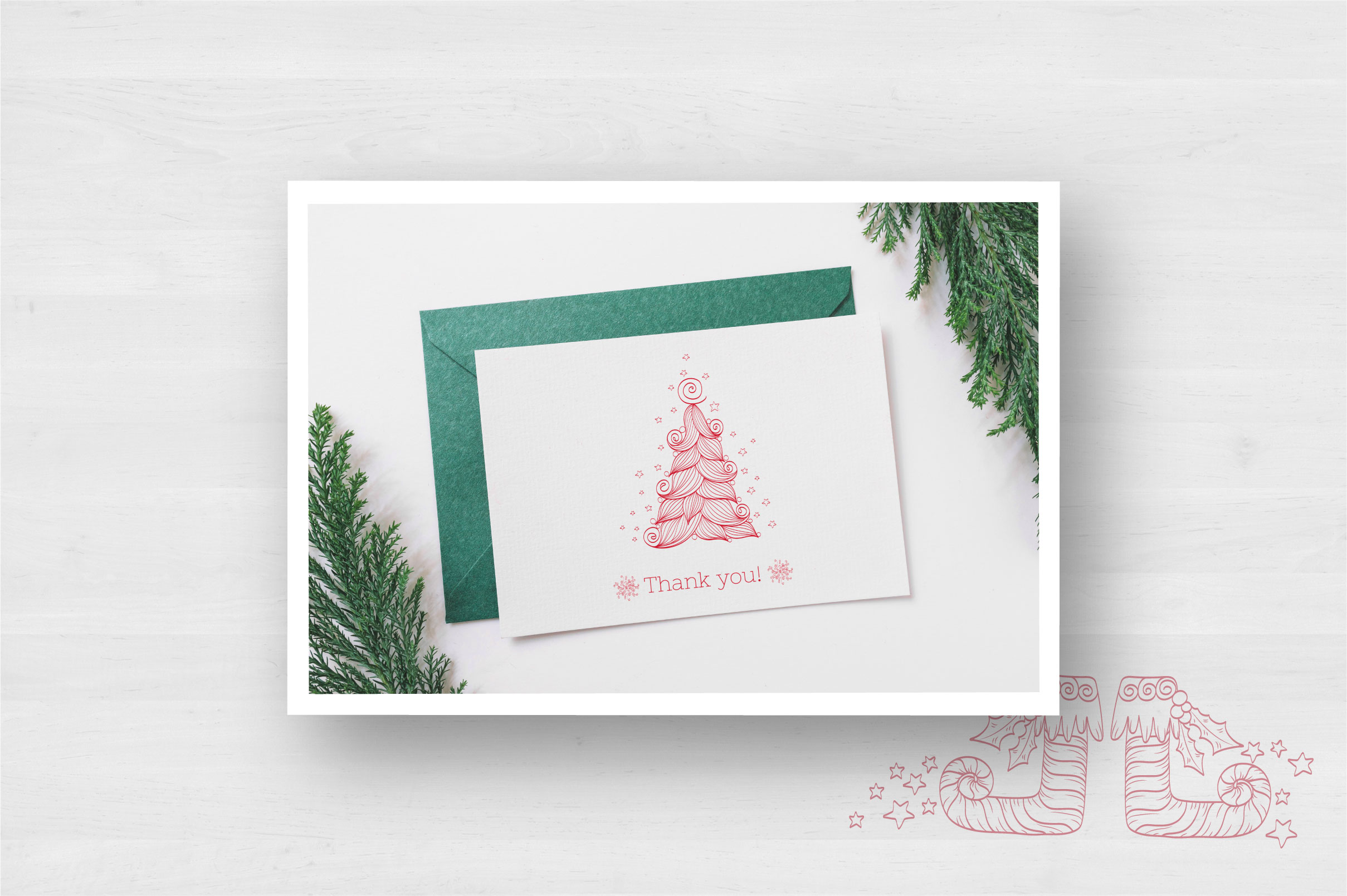 Doodle Christmas Vector Collection example image 10