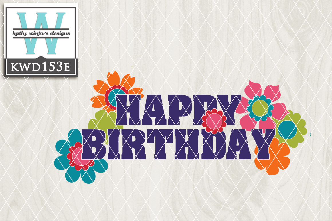 Birthday Cutting File KWD153E example image 1