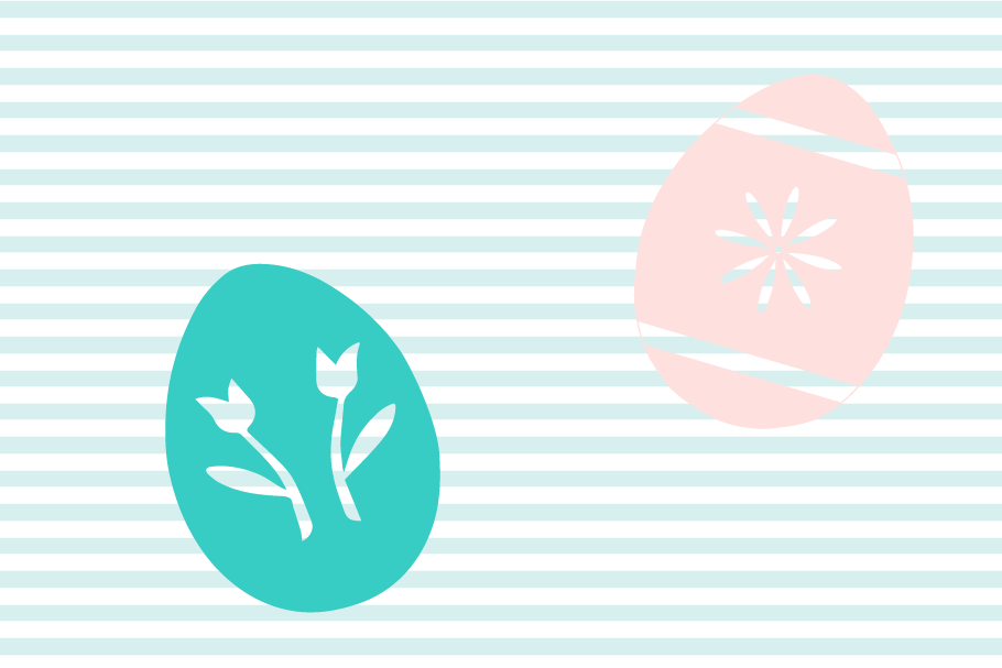 Decorated Easter Egg SVG and Cut File Set example image 3
