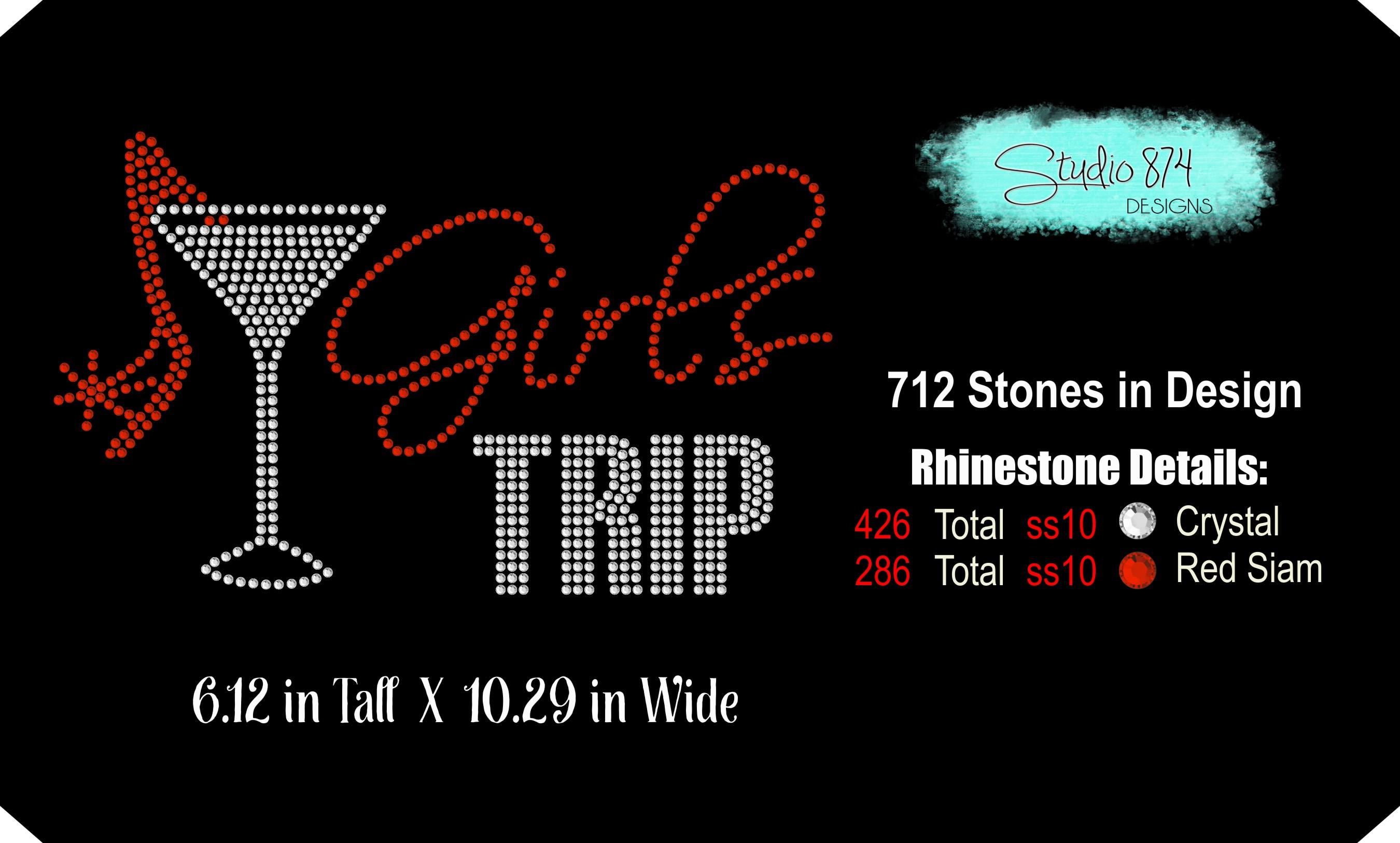 Girls Trip Rhinestone SVG Transfer Template R5 example image 3