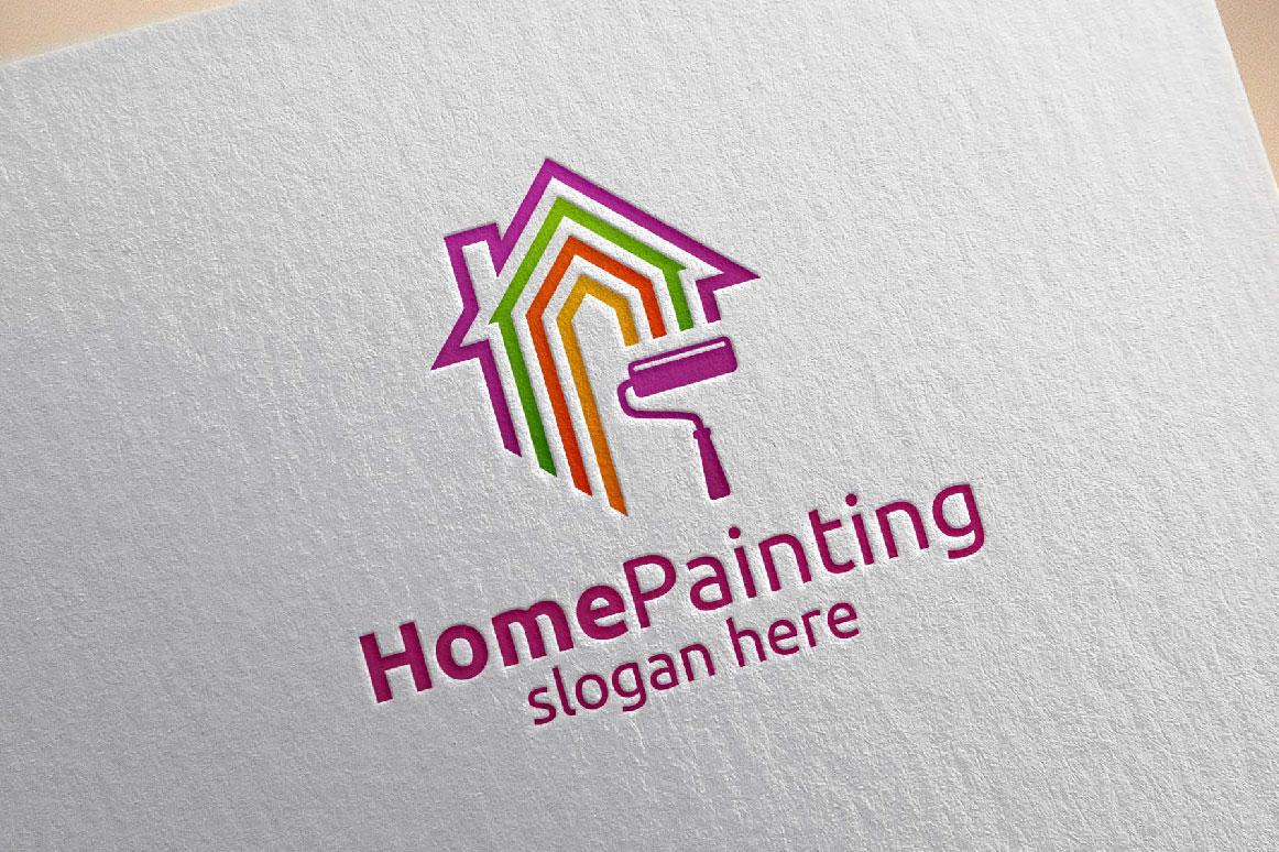 Home Painting Vector Logo Design 3 by d | Design Bundles