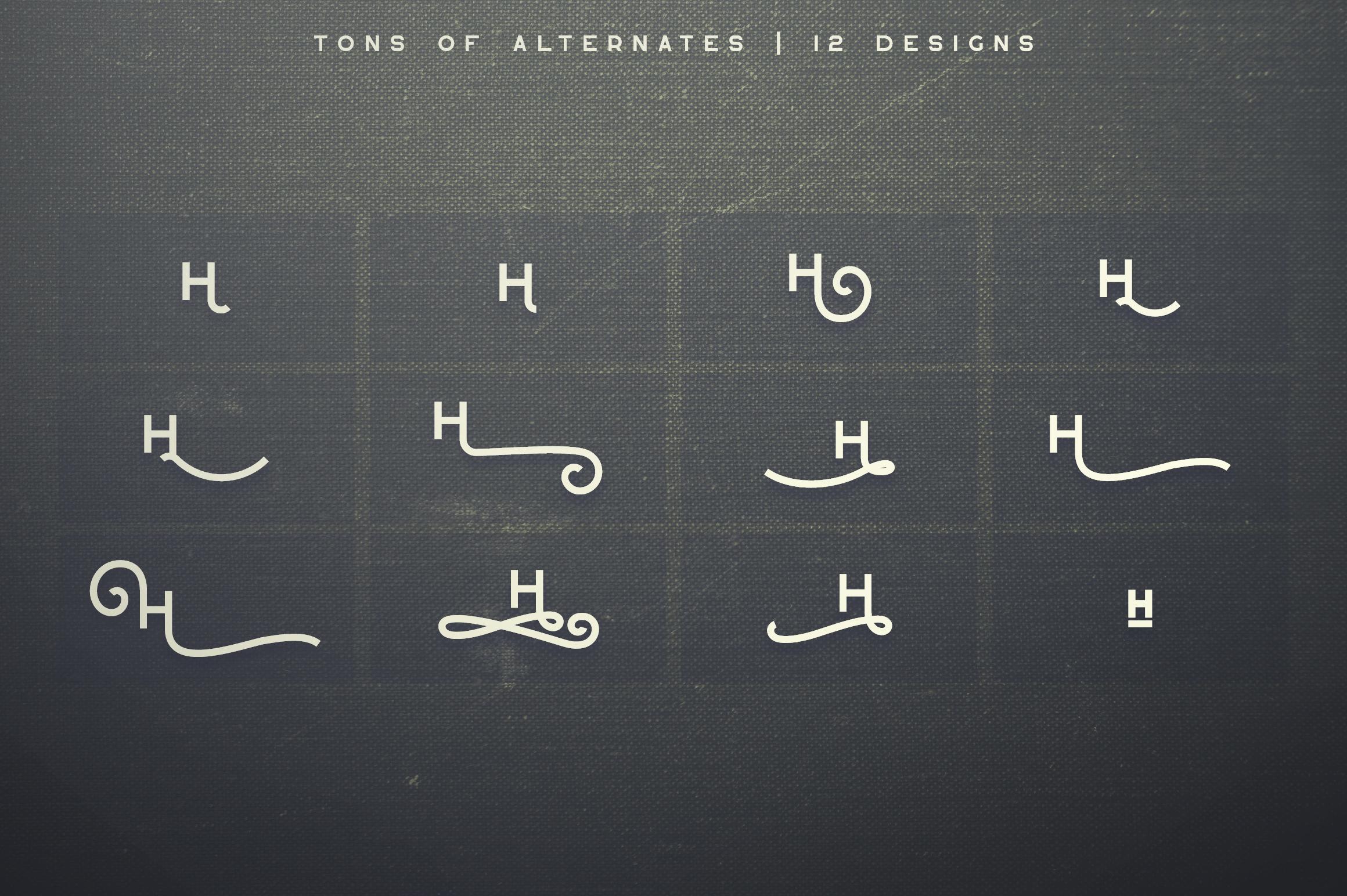 Greenth Display   Latin & Cyrillic example image 12