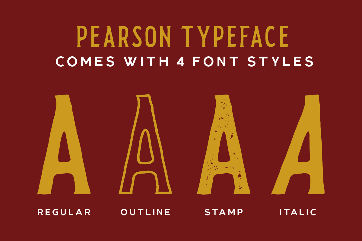 Pearson Typeface- 4 Fonts! & EXTRA example image 3
