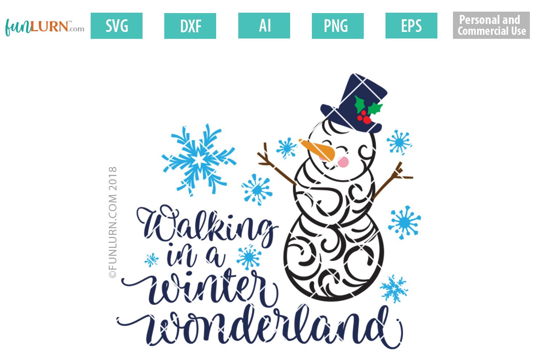 Swirly Snowman Bundle SVG example image 8