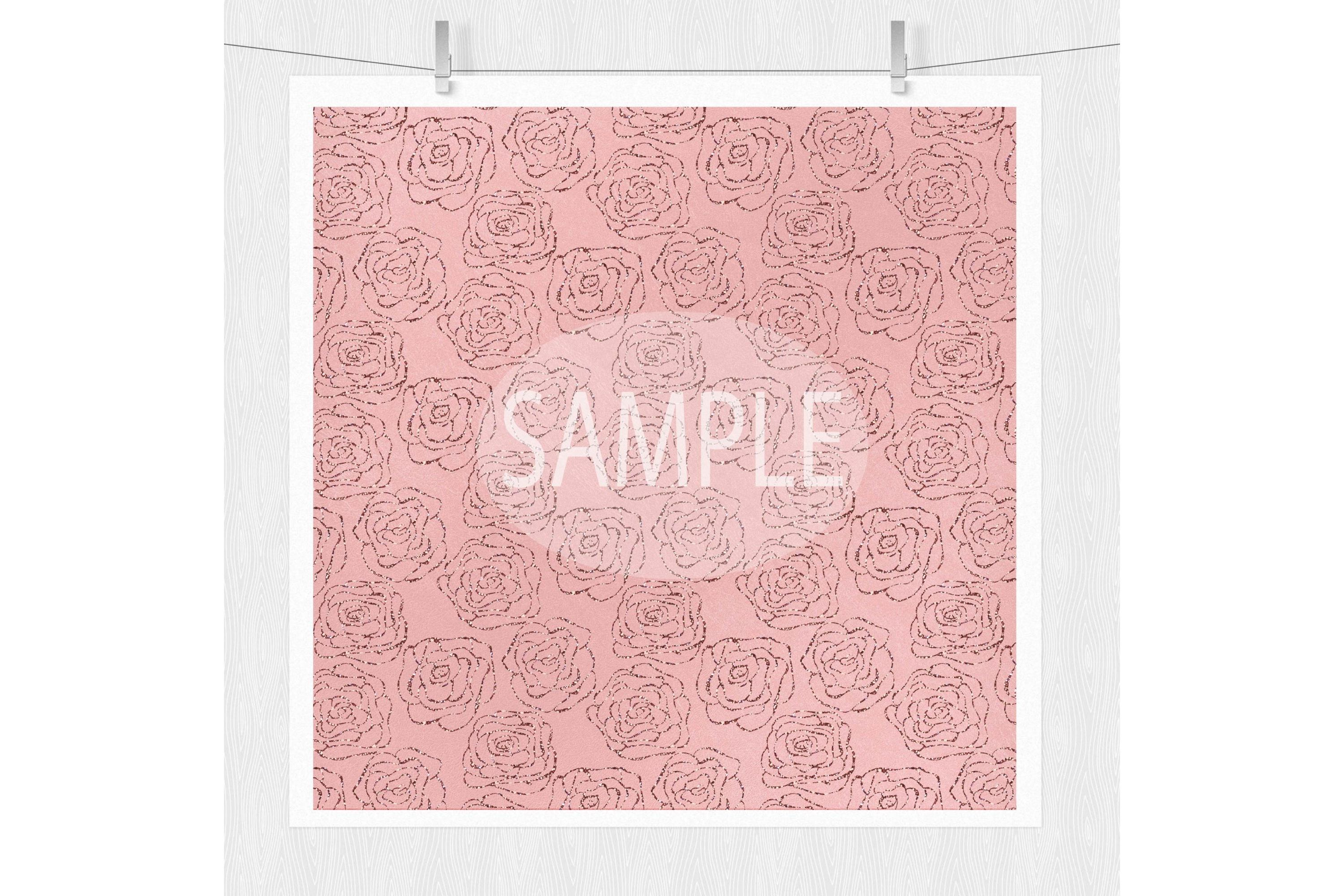 Rose Gold Digital Paper - Rose Gold Texture example image 5