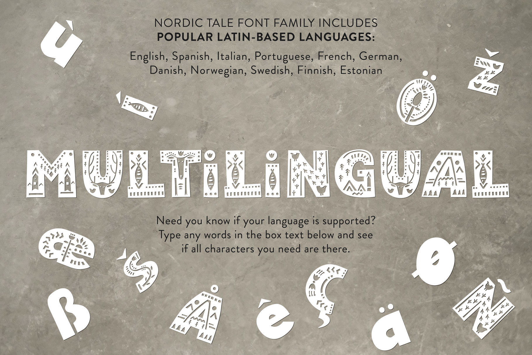 Nordic Tale - Folkart Font Family example image 8