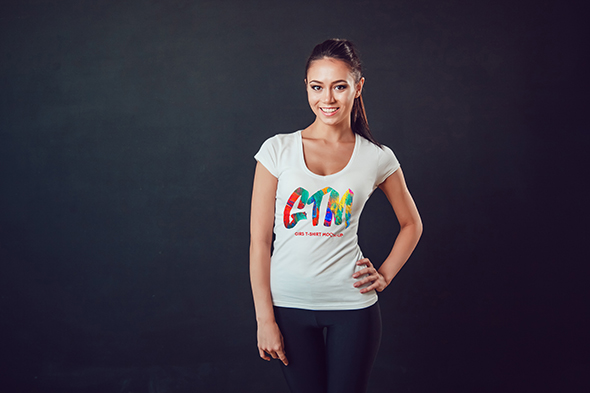 Women's T-shirts Mock-Up Vol 2 example image 12