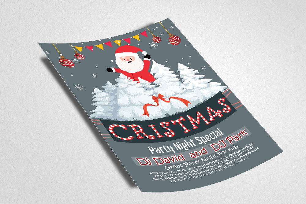 Merry Christmas Flyer example image 2
