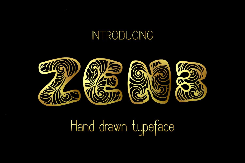 Zen3 Font example image 3
