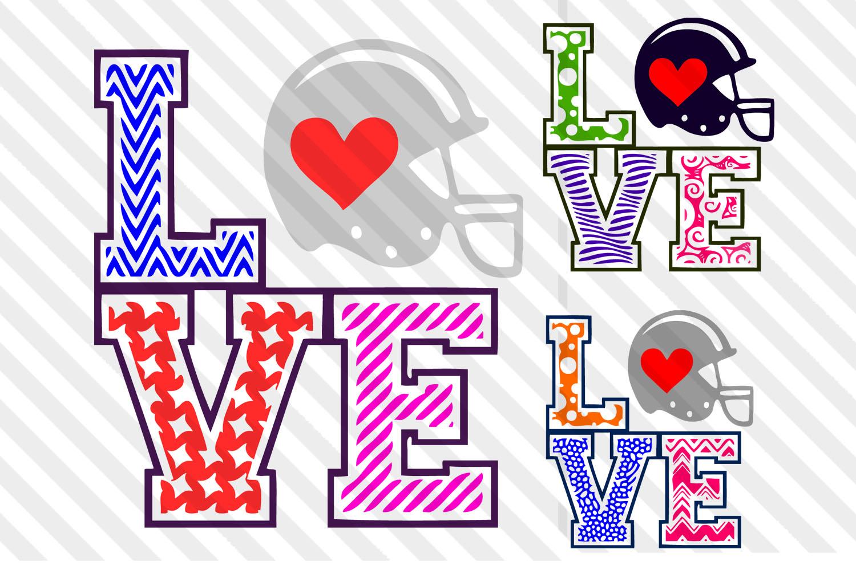 Football Helmet,Football svg,Football clip art,love,Football example image 1