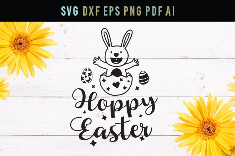 Hoppy Easter, Easter funny svg, Easter egg svg, dxf file example image 1