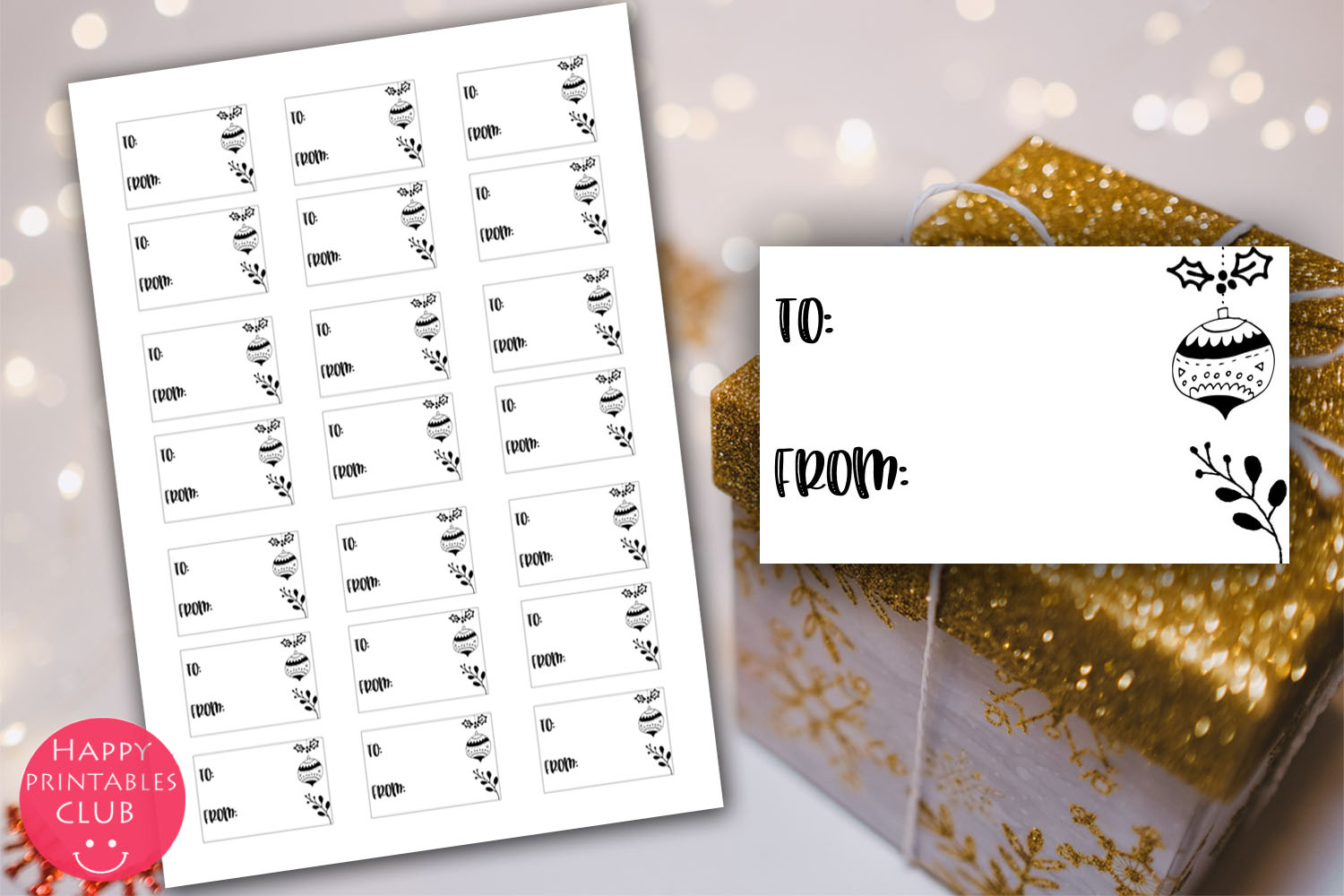 Christmas Cards-Gift Tags-Labels/Holiday Cards Tags Labels example image 12