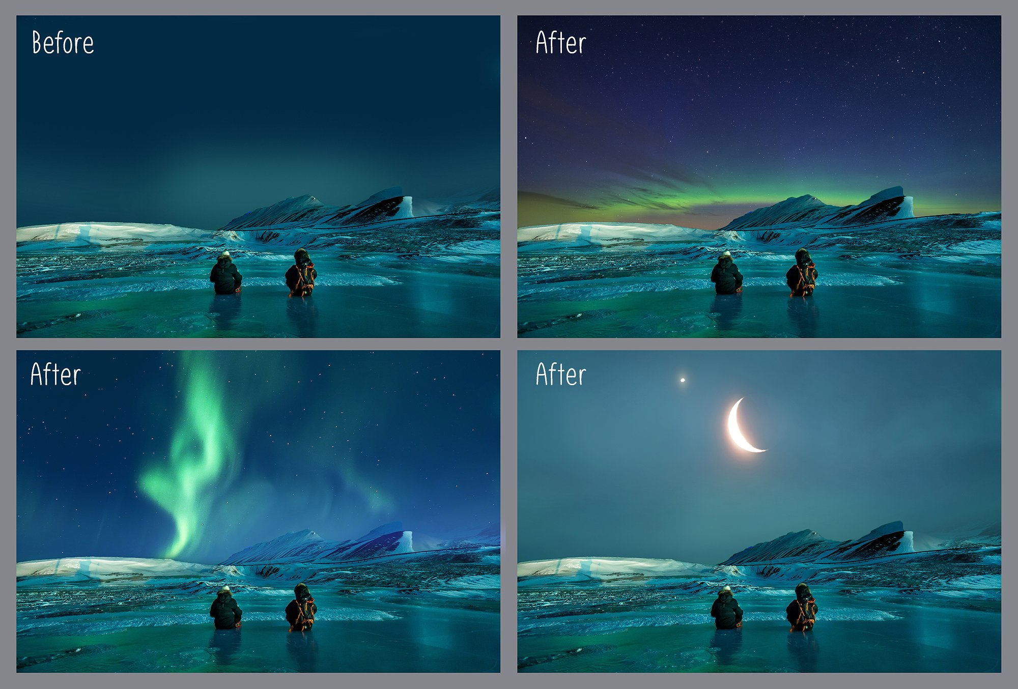 100 Night Sky Overlays example image 4