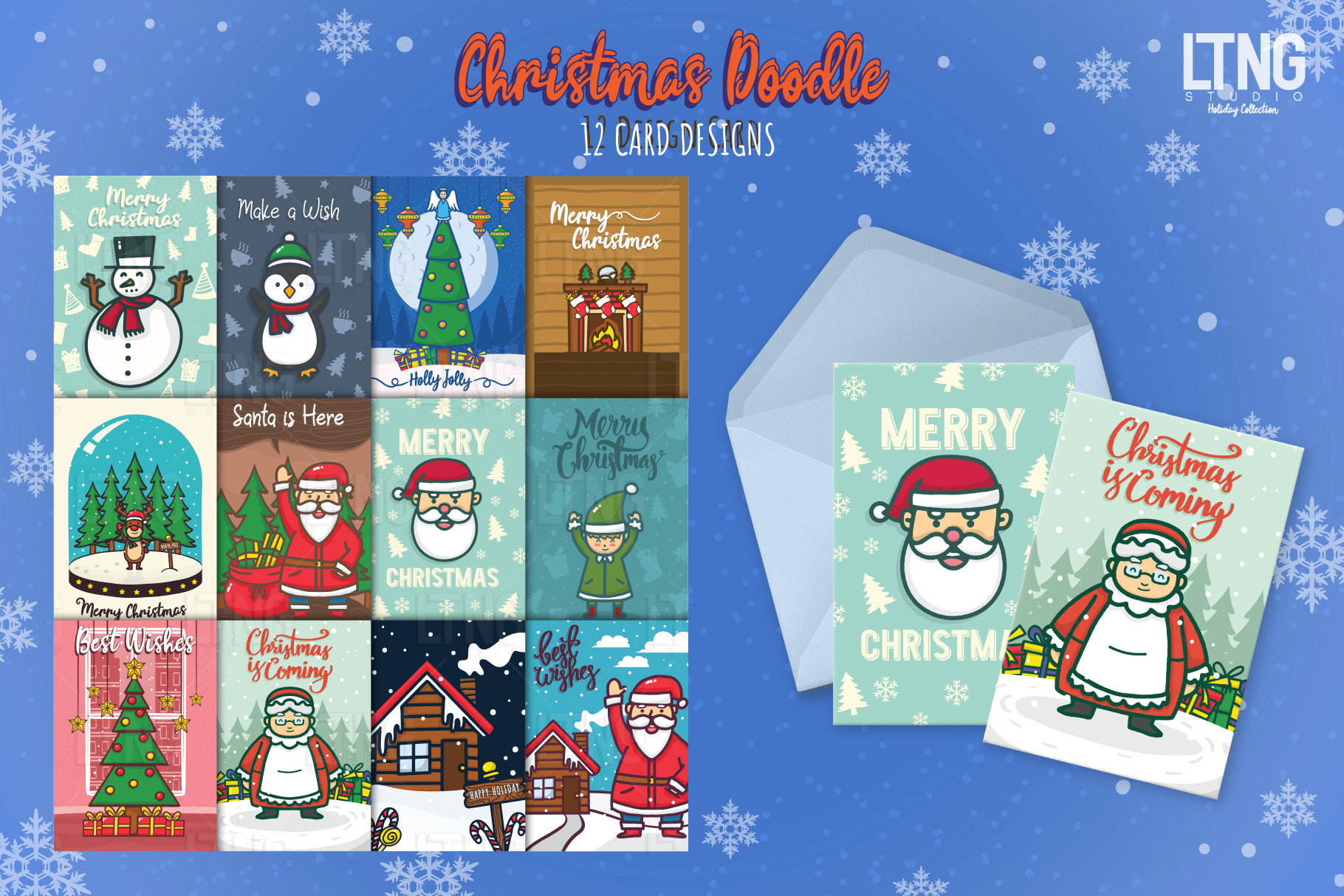 Christmas Doodle Graphic Element 2 example image 4