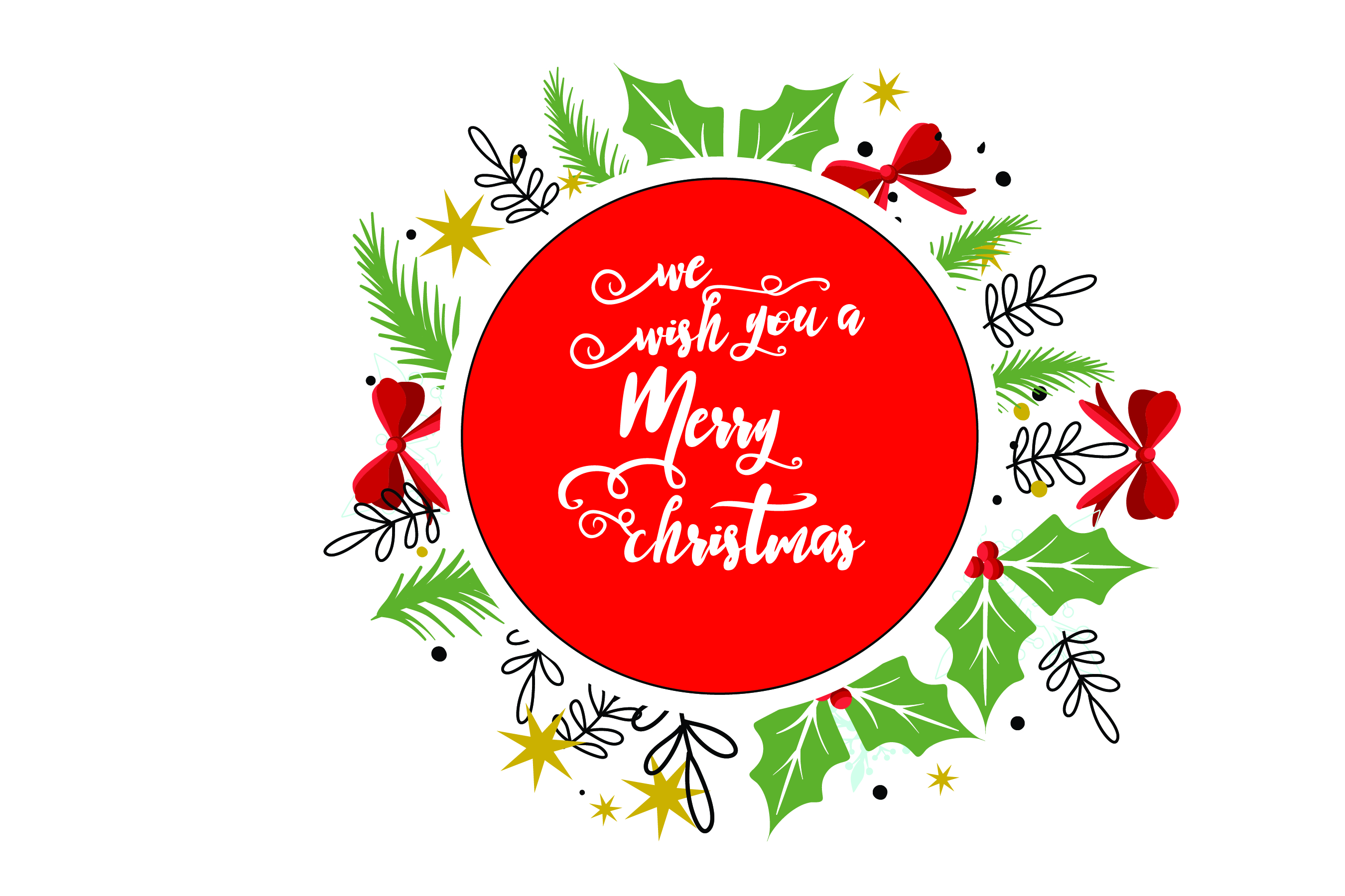 Merry Christmas-SVG Cut File-Coffee Mug Design-Greeting Card example image 3