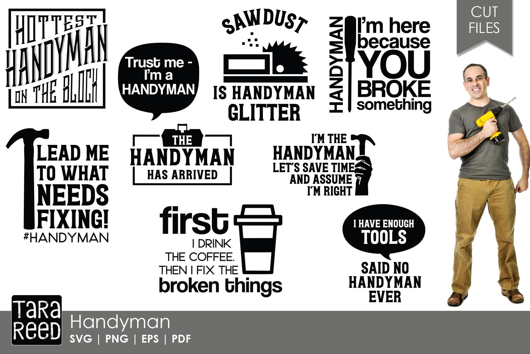 Handyman SVG and Cut Files for Crafters example image 1