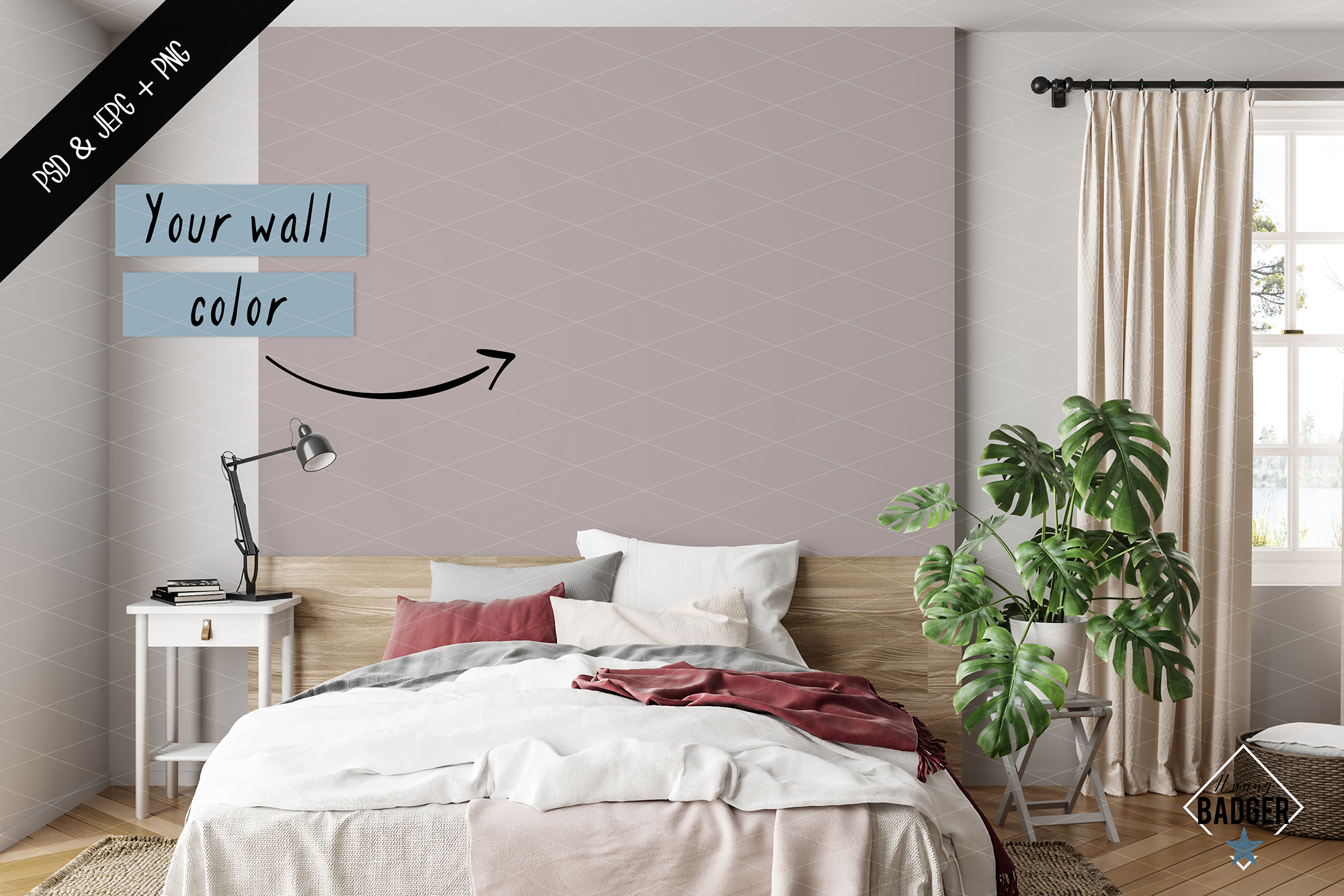 Wall mockup - Wallpaper mockup example image 5