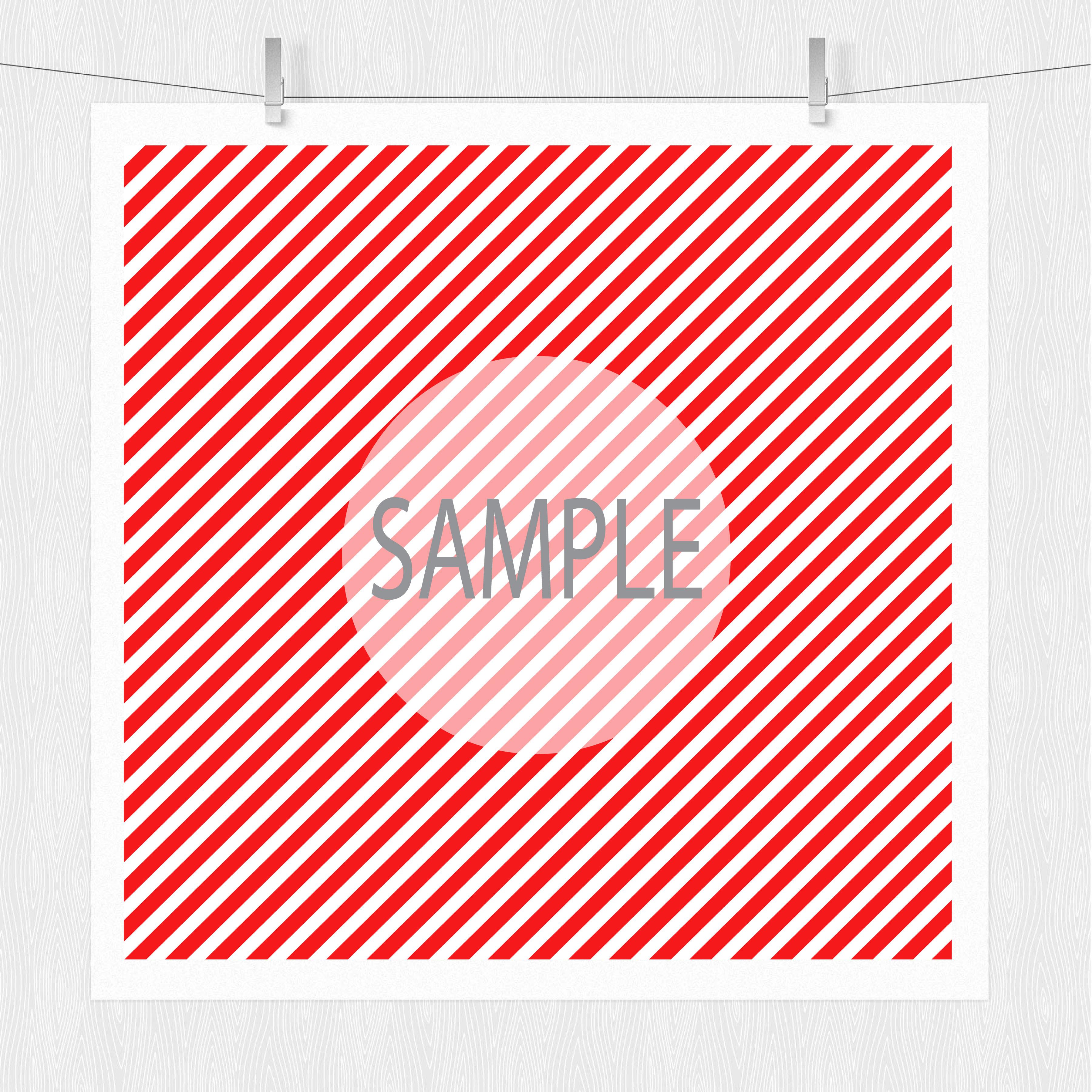 Diagonal Stripe Digital Scrapbook Paper  example image 5