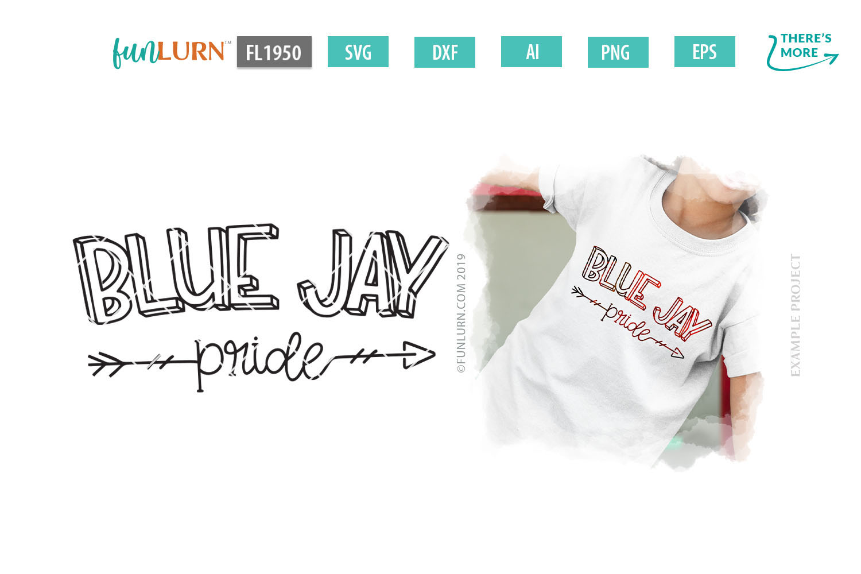 Blue Jay Pride Team SVG Cut File example image 1