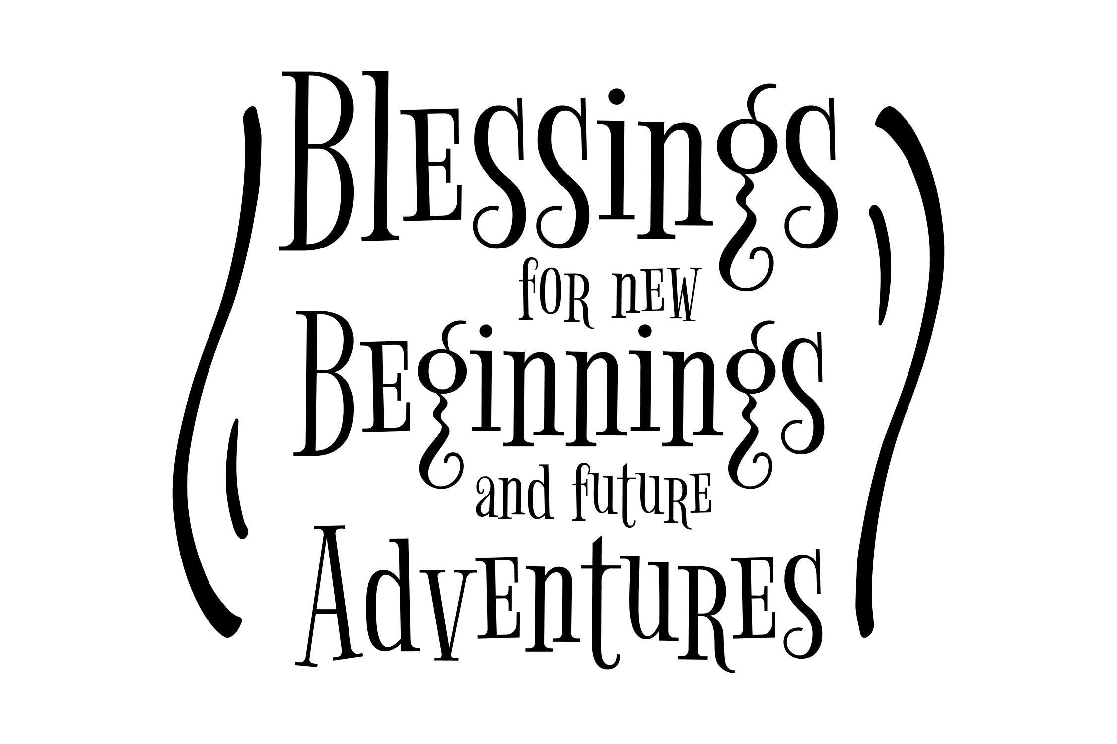 Blessings for new beginnings - SVG EPS PNG example image 3