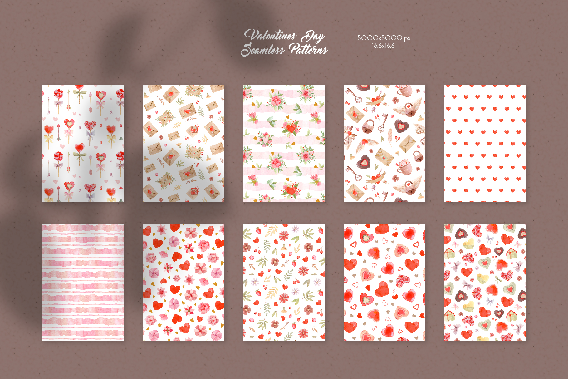 Valentines Day Seamless Patterns example image 2