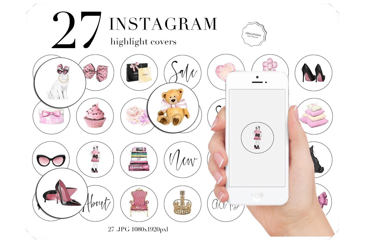Fashion Instagram Story Highlights Icons example image 1