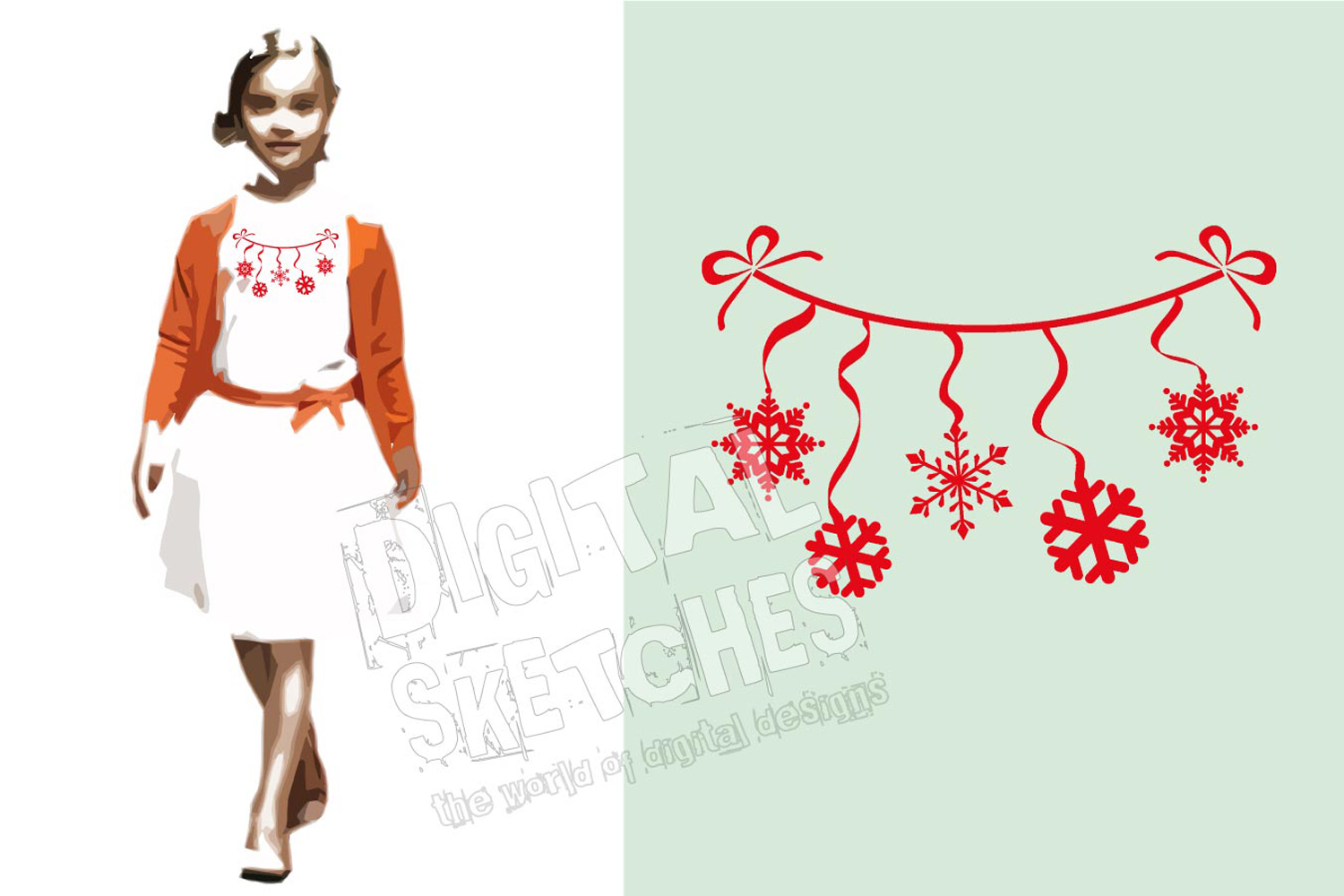 Snowflakes Christmas Cut File Vector Graphics Illustration example image 2
