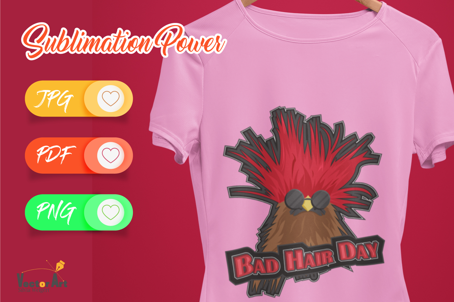 Bad Hair Day - Sublimation File for Crafter example image 4
