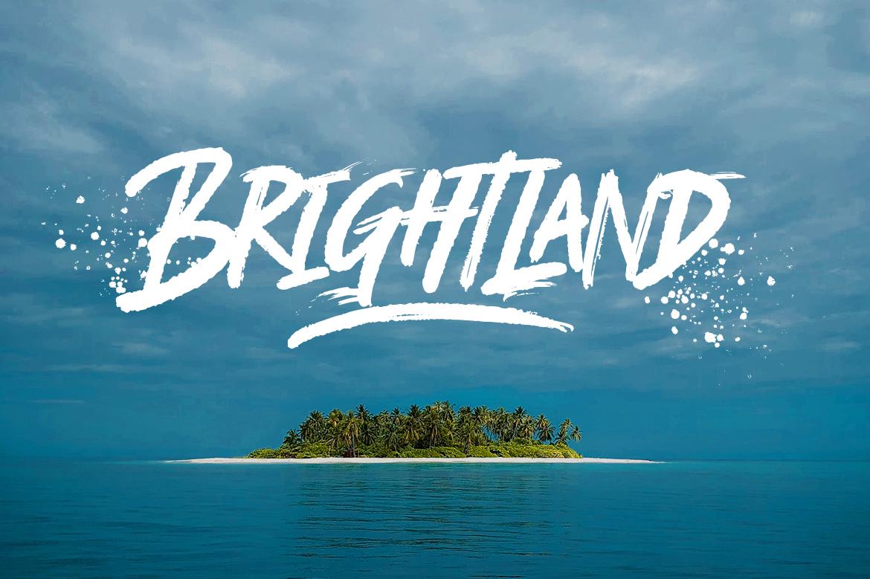 Brightland Brush Font example image 13