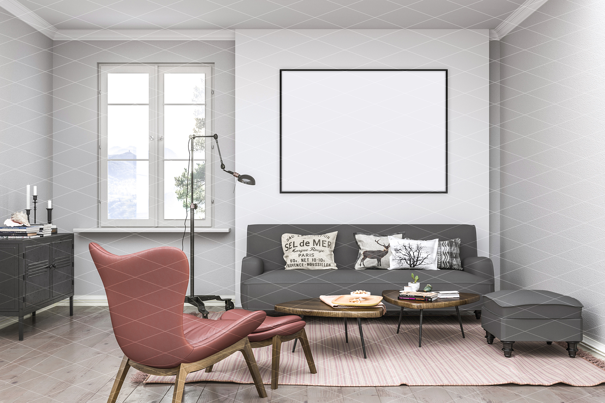Interior mockup - artwork background example image 3