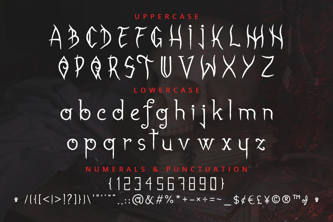 Gabrielle Bloodkador Halloween Font example image 4
