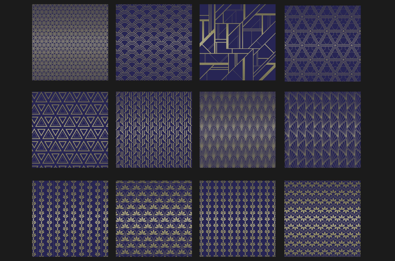 Blue titanium Art Deco backgrounds example image 2