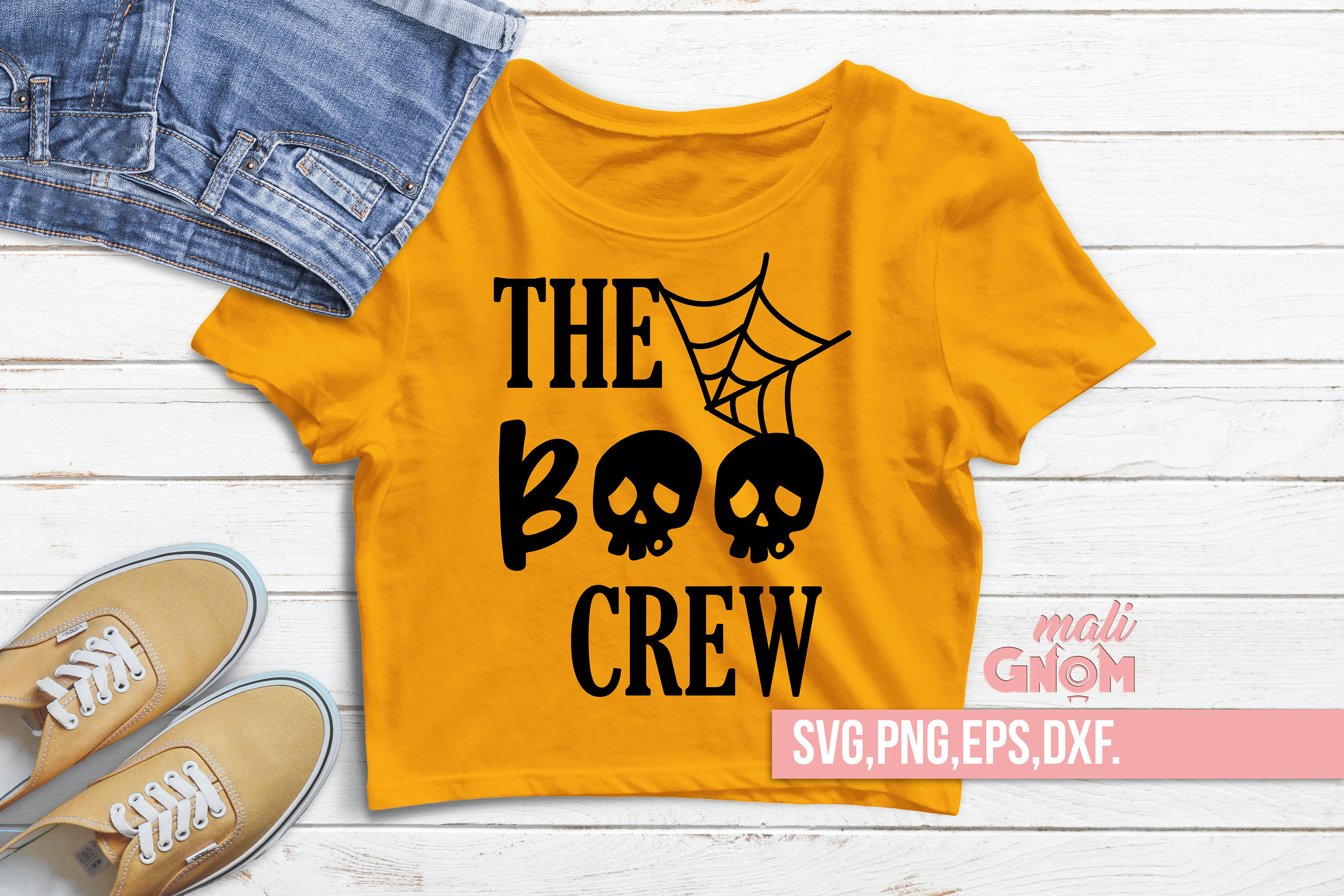 The Boo Crew SVG, Halloween SVG file, Trick or Treat Bag SVG example image 1