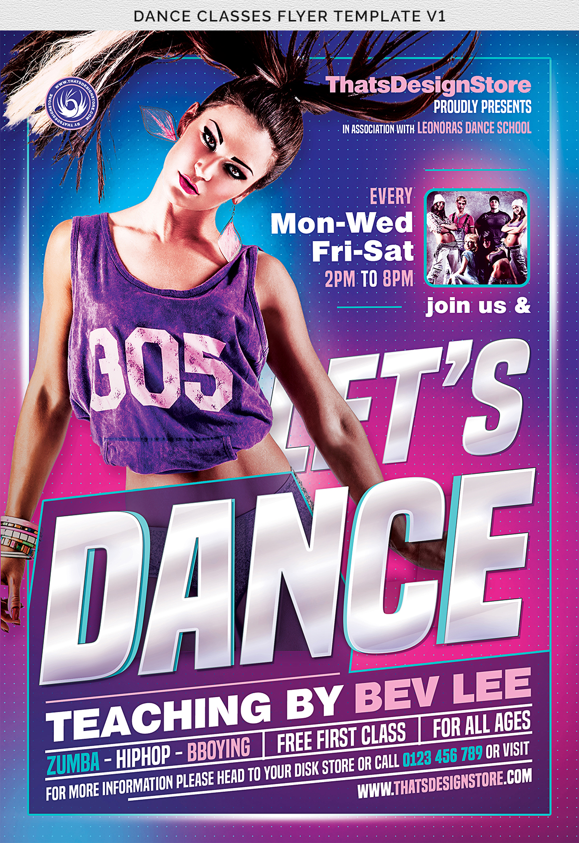 Dance Classes Flyer Template V1 example image 7