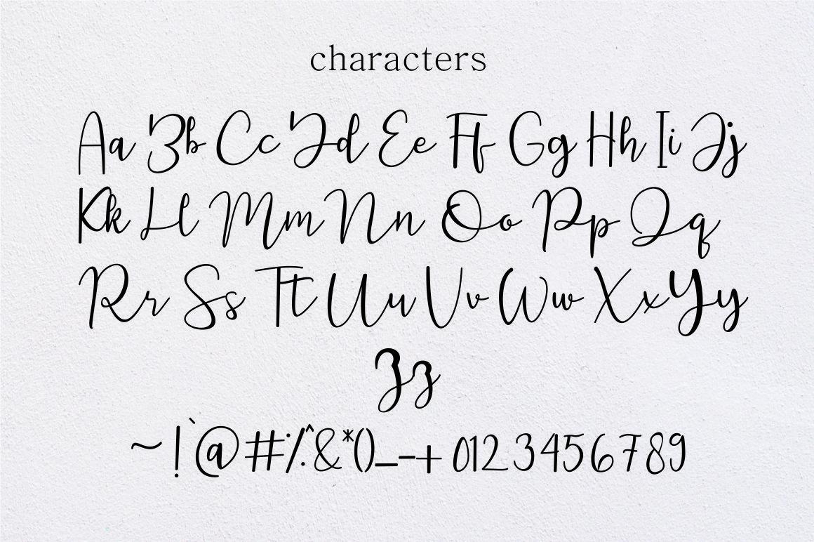 featrisse // casual script font example image 9