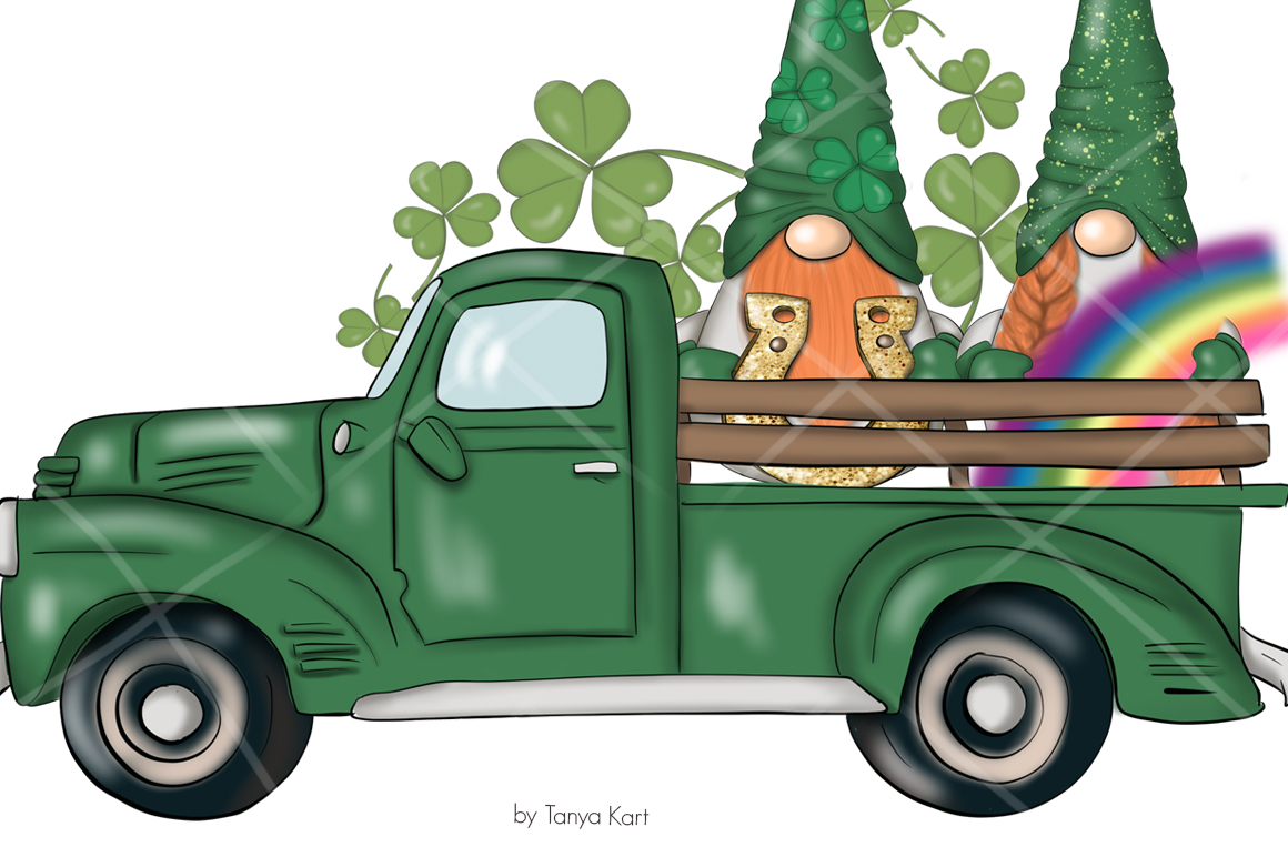 St. Patricks Gnomes Icons & Pattern example image 2
