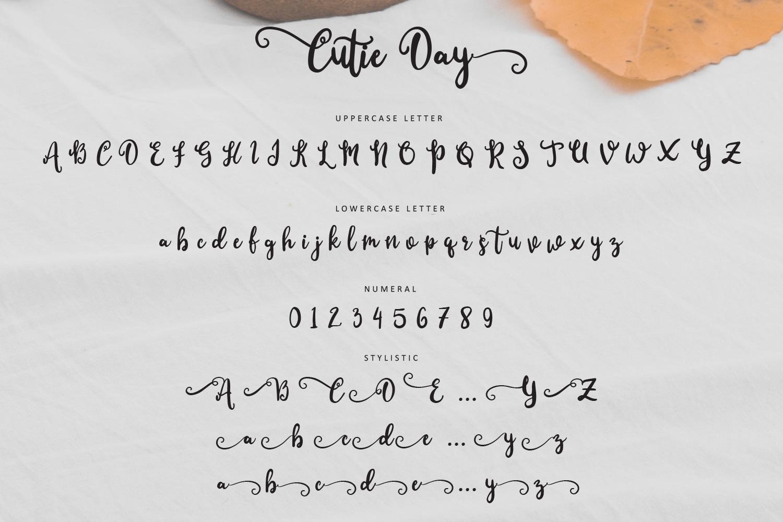 Cutie Day - Cute Script Font example image 9