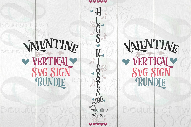Valentines Vertical svg Sign Bundle, 4 Valentine svg designs example image 4