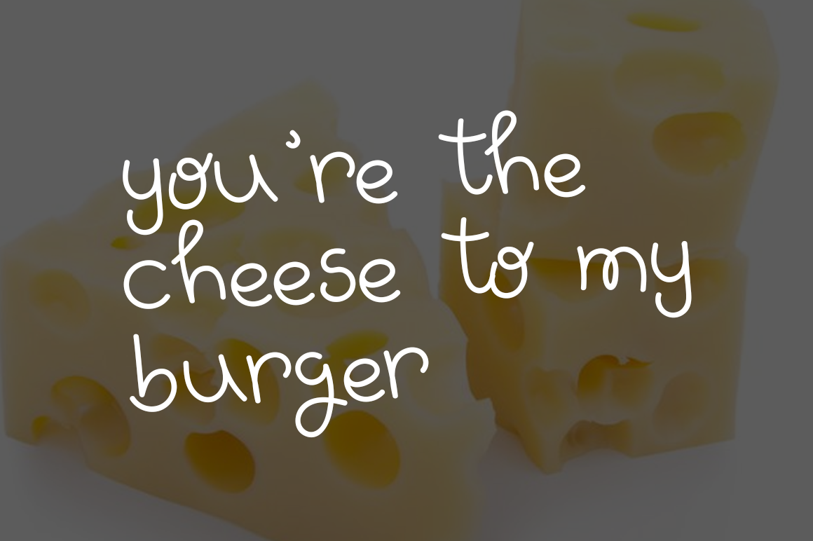 Yummy Burger- A handmade delicious font example image 3