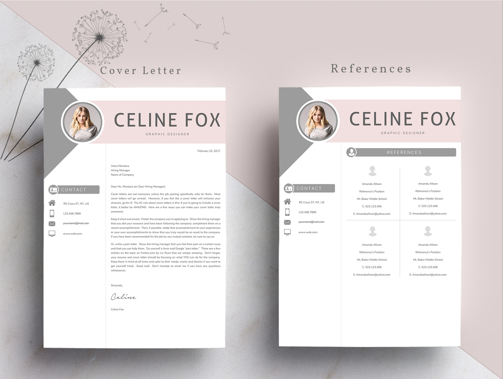 Professional Word Resume Template CV example image 6