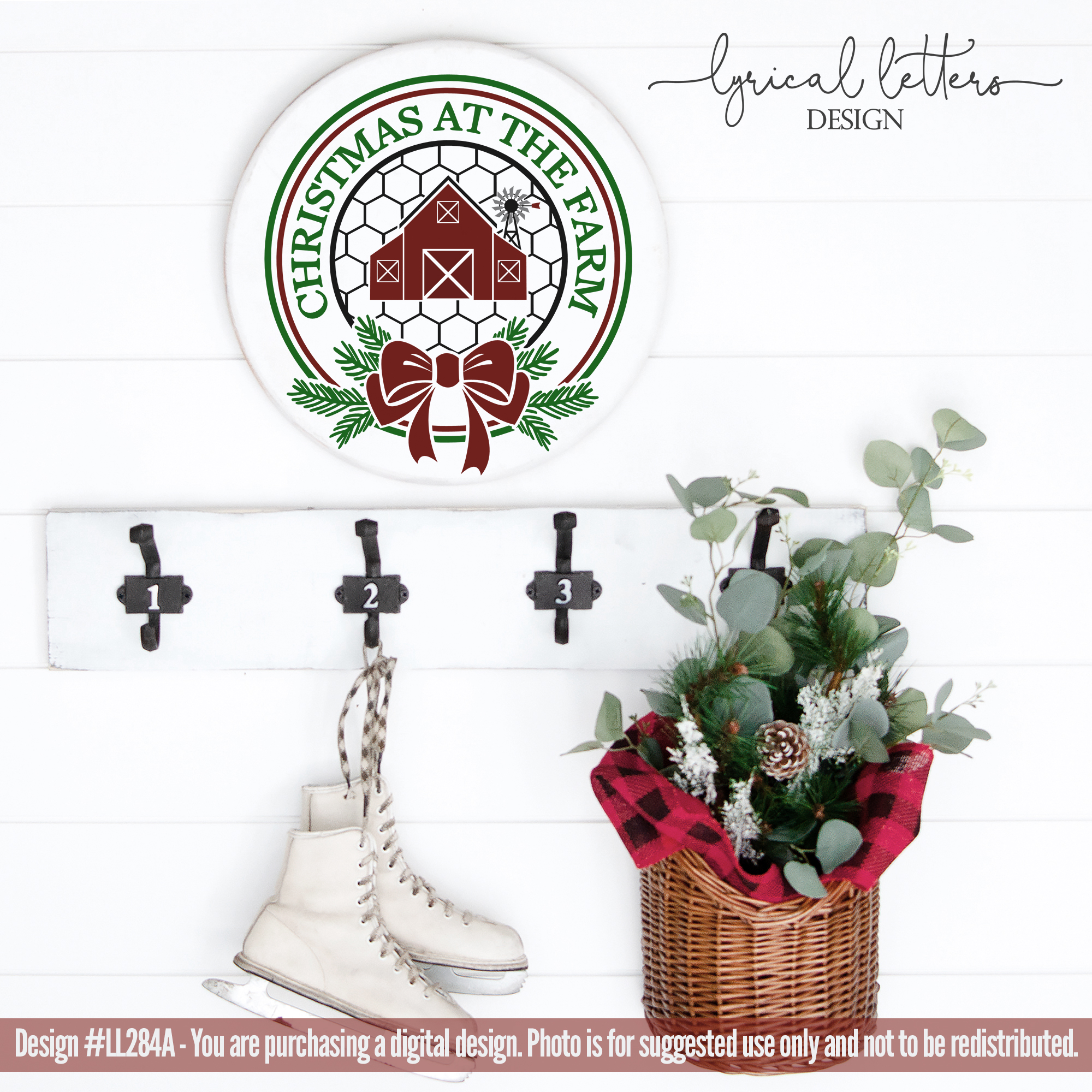 NEW! Christmas At The Farm with Barn SVG LL284A example image 2