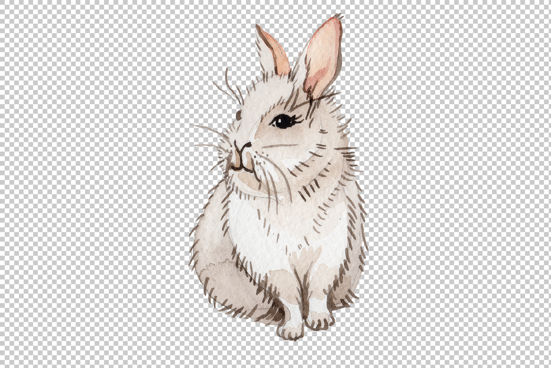 Easter bunny Watercolor png example image 5