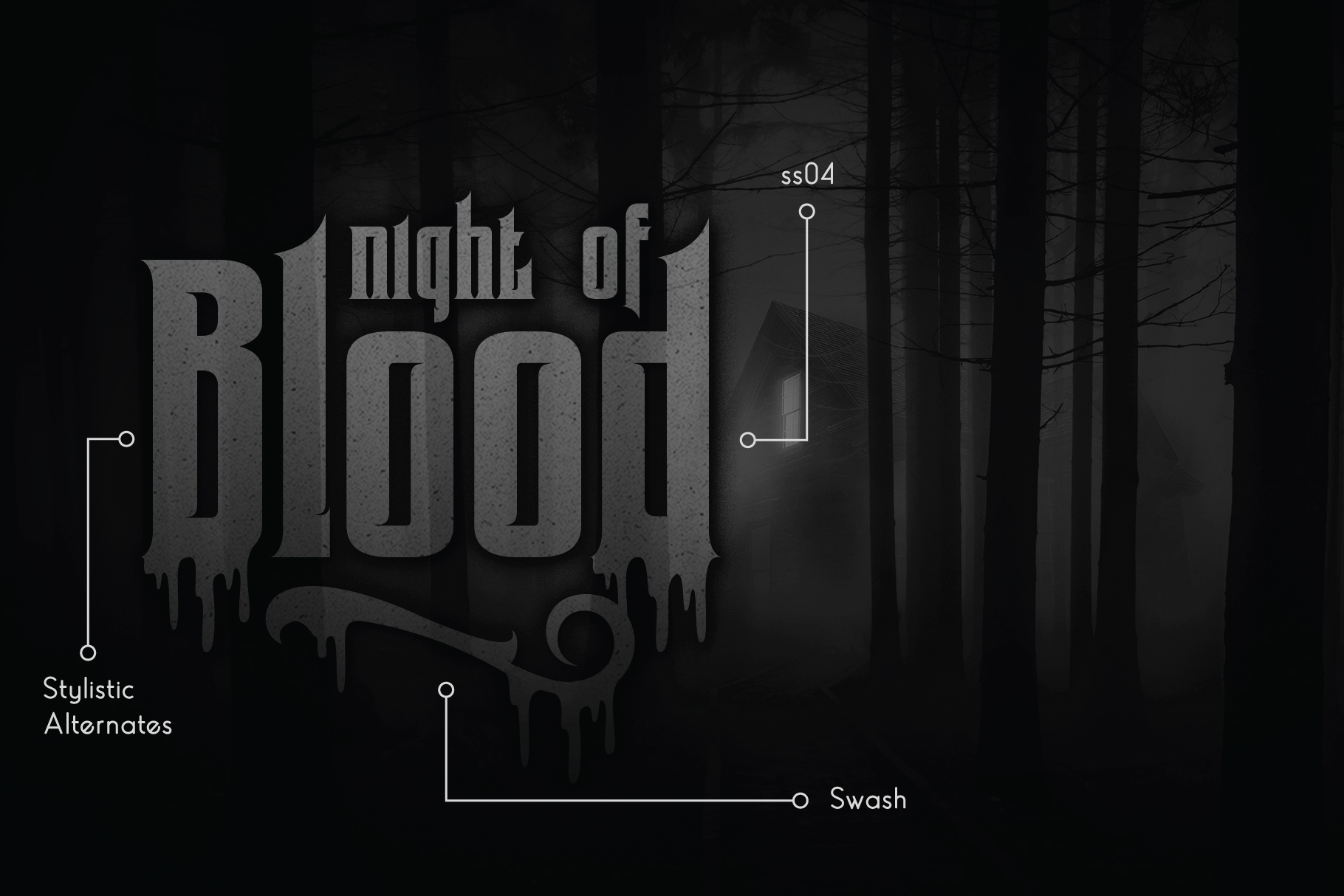 Coovico Bloody Typeface example image 5