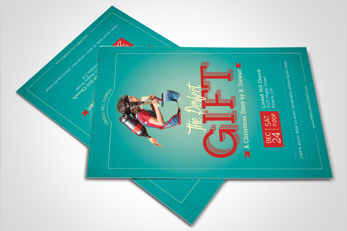 Perfect Gift Church Flyer Poster Template example image 3