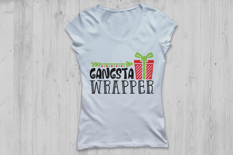 Gangsta Wrapper Svg, Christmas Svg, Funny Christmas Svg. example image 2